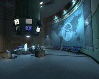 Приветливый вестибюль лабораторий аномальных материалов в начале игры...