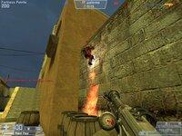 Нет, пироман не пытается поджечь стену, через секунду он через неё перелетит.