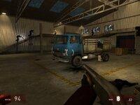 Обороняем грузовик. Зомби лезут изо всех щелей, даже с потолка.